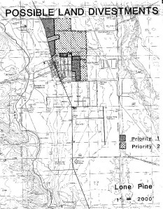 Lone Pine Area Map